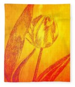 The Golden Tulip Fleece Blanket