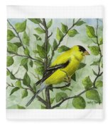 The Goldfinch Fleece Blanket