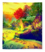 The Good Shepherd Painting In Hotty Totty  Fleece Blanket