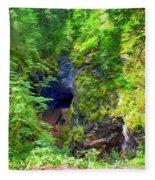 The Gorge In The Wood Fleece Blanket