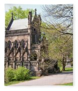 The Gothic Temple In Spring Grove Cemetery Fleece Blanket
