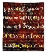 The Grace Of Suffering Fleece Blanket