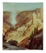The Grand Canyon Of The Yellowstone Fleece Blanket