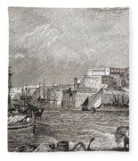 The Grand Harbour, Valetta, Malta After Fleece Blanket