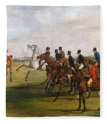 The Grand Leicestershire Steeplechase, March 12, 1829  The Start Fleece Blanket