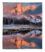 The Grand Teton Fleece Blanket