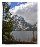 The Grand Tetons And The Lake Fleece Blanket