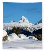 The  Grand Tetons From Alta Wyoming Fleece Blanket