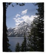 The Grand Tetons Lake Fleece Blanket