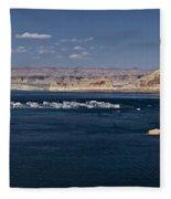 The Grand View Of Wahweap Bay Fleece Blanket