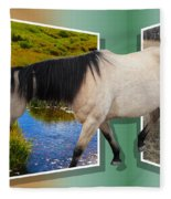 The Grass Is Always Greener On The Other Side Fleece Blanket
