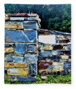 The Grateful Stone Wall Fleece Blanket