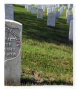 The Grave Of Martha B. Ellingsen In Arlington's Nurses Section Fleece Blanket