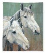 The Grays - Horses Fleece Blanket