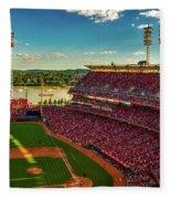 The Great American Ball Park - Cincinnati Fleece Blanket