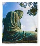 The Great Buddha Fleece Blanket