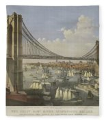 The Great East River Suspension Bridge Fleece Blanket