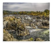 The Great Falls Of The Potomac Fleece Blanket