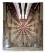 The Great Hall, Winchester Castle, Hampshire Zoom Burst Fleece Blanket