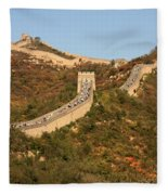 The Great Wall On Beautiful Autumn Day Fleece Blanket