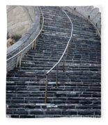 The Great Wall Steps Fleece Blanket