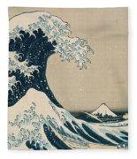 The Great Wave Of Kanagawa Fleece Blanket