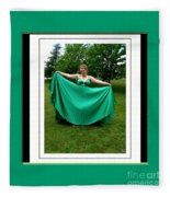 The Green Dress Fleece Blanket