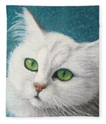 The Green Eyed Vamp Fleece Blanket