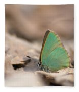 The Green Hairstreak Fleece Blanket