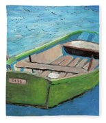 The Green Rowboat Fleece Blanket