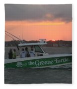 The Greene Turtle Power Boat Fleece Blanket