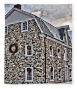 The Grist Mill And Ye Old Tavern Fleece Blanket