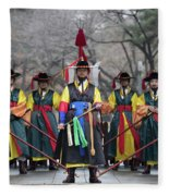 The Guards Of Seoul. Fleece Blanket