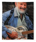 The Guitar Player Fleece Blanket