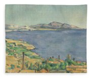 The Gulf Of Marseilles Seen From L'estaque Fleece Blanket