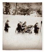 The Guns Of Gettysburg Fleece Blanket
