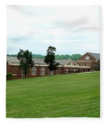 The Gym At Sweet Briar Fleece Blanket
