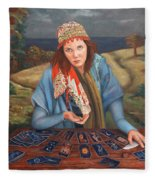 The Gypsy Fortune Teller Fleece Blanket