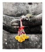 The Hand Of Buddha Fleece Blanket