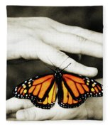 The Hands And The Butterfly Fleece Blanket