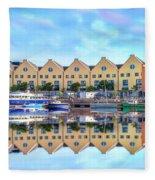 The Harbor At Galway Fleece Blanket