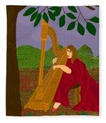 The Harpist Fleece Blanket