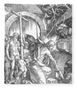 The Harrowing Of Hell Or Christ In Limbo From The Large Passion 1510 Fleece Blanket