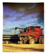 The Harvest Run Fleece Blanket