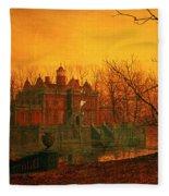 The Haunted House Fleece Blanket