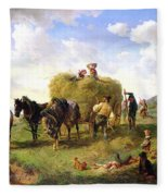 The Hay Harvest Fleece Blanket