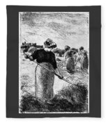 The Hayymaker Camille Pissarro Fleece Blanket