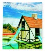 The Hazmat Water Park Fleece Blanket