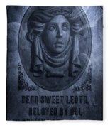 The Headstone Of Madame Leota Fleece Blanket