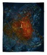The Heart Of A Glass Blower Fleece Blanket